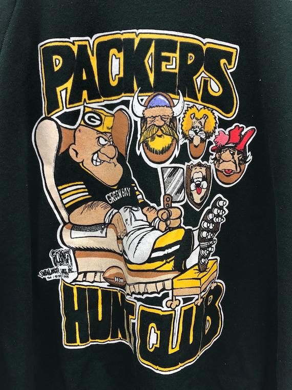 Packers NFL Green Bay vintage 90s football hunting sweatshirt XXXL NkXw5xLd