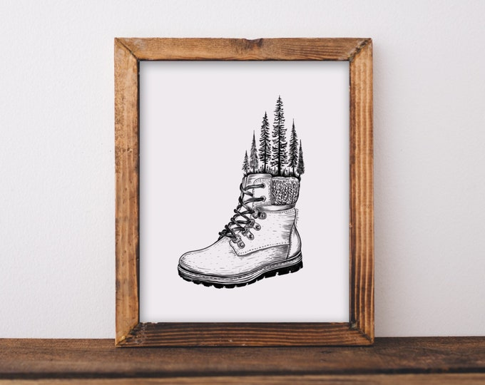 Hiking Boot Art Print