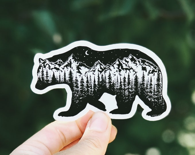 Mountain Bear Vinyl Sticker