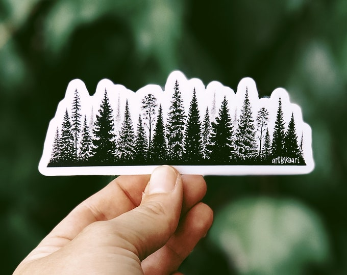 Treescape Line Vinyl Sticker