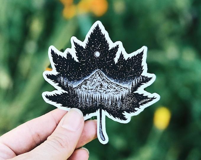 Metallic Mountain Leaf Sticker (Limited Edition)