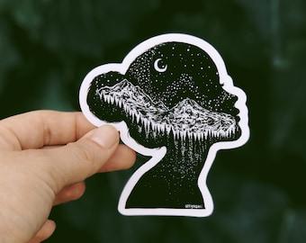 Mountainous Silhouette Vinyl Sticker
