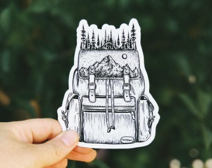 Forested Backpack Vinyl Sticker