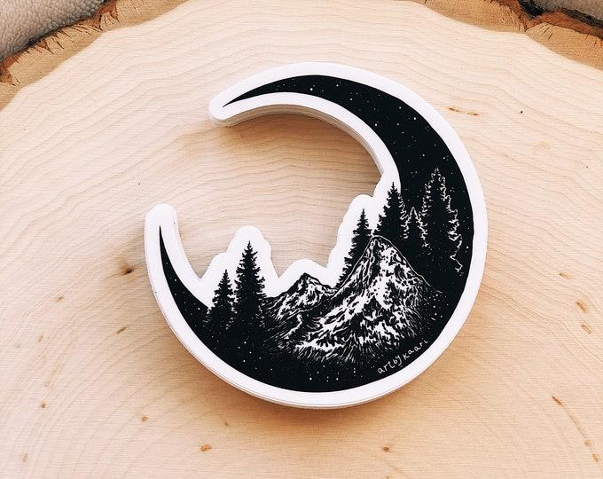 Mountain Moon Vinyl Sticker