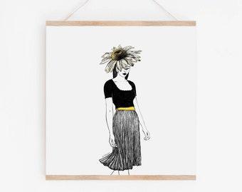 Daisy Girl Art Print