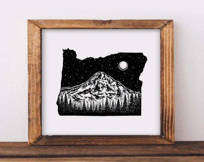 Oregon + Mt. Hood Fine Art Print
