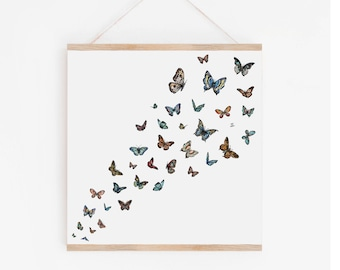 Butterflies in Color Art Print
