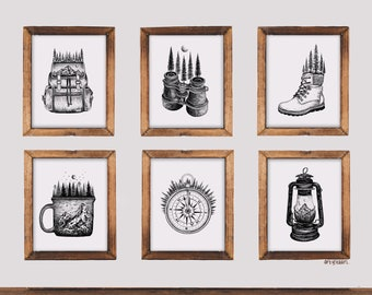 Set of 6 Art Prints - Explore to Create Edition