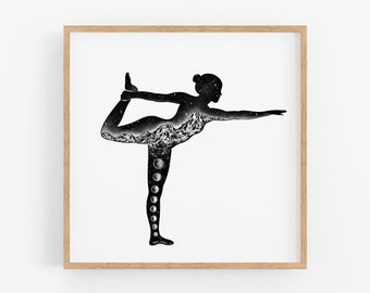 Yoga Pose V Art Print