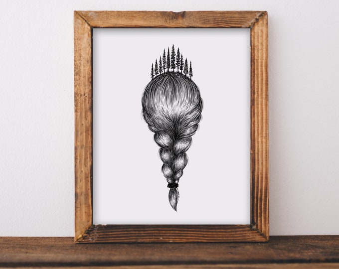 Forested Braid Art Print