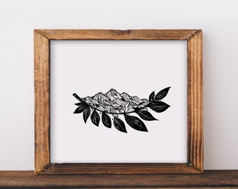 Mountain Leaves I Fine Art Print