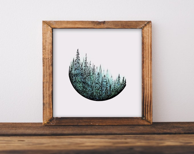 Trees in Color Art Print