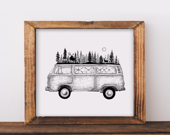 Forested Van Fine Art Print