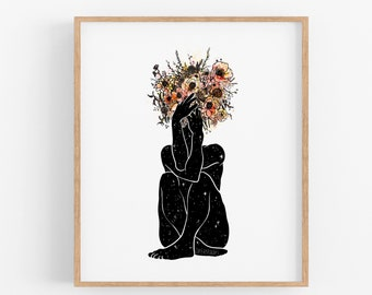 Bouquet Pose I Art Print