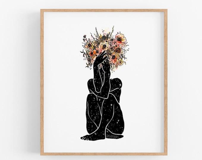 Bouquet Pose I Art Print