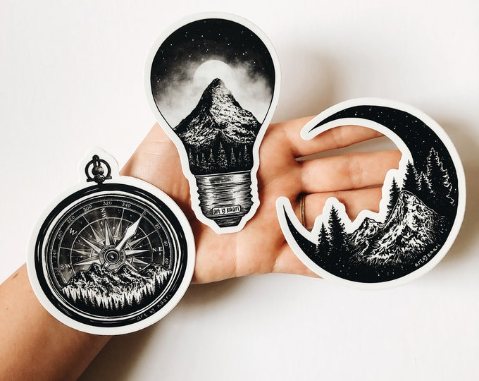 Mountains & Nature Sticker Pack