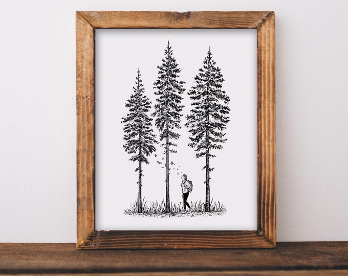 Her Forest Art Print