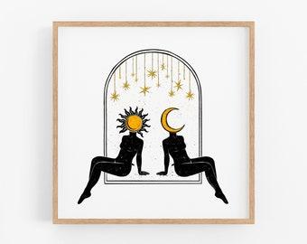 Sun to my Moon Art Print