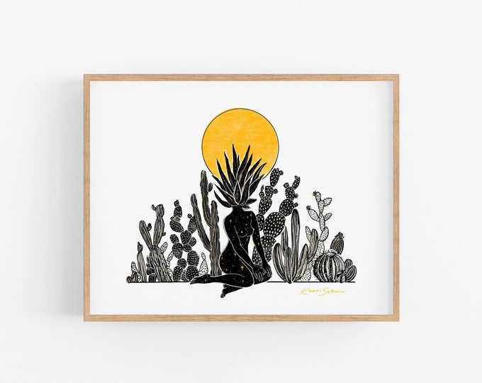 Her Desert Sun Art Print