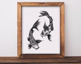 Koi Fish Fine Art Print