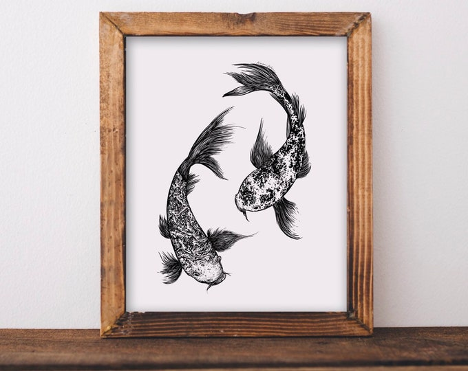 Koi Fish Fine Art Print