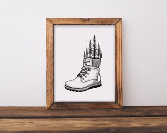 Hiking Boot Fine Art Print
