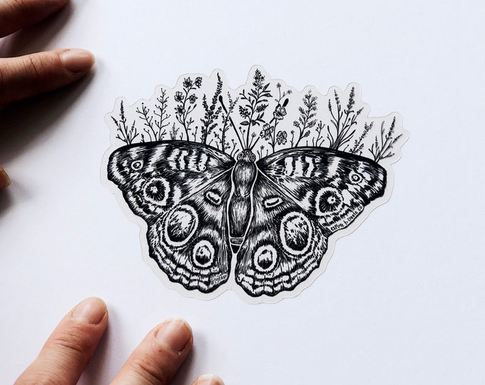 Clear Floral Butterfly Sticker (Limited Edition)