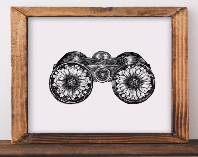 Sunflower Binoculars Fine Art Print