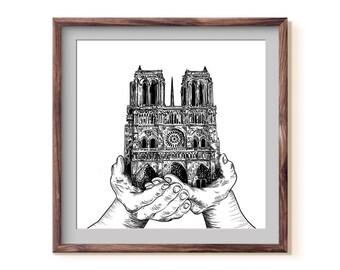 Notre Dame Fine Art Print