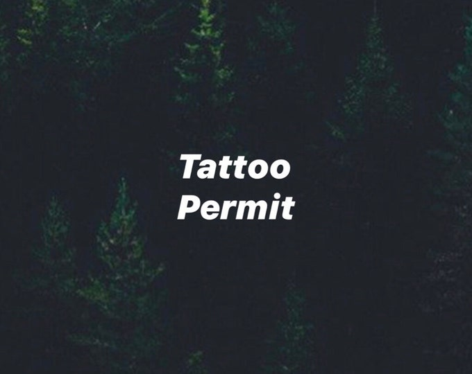 ArtbyKaari Tattoo Permit