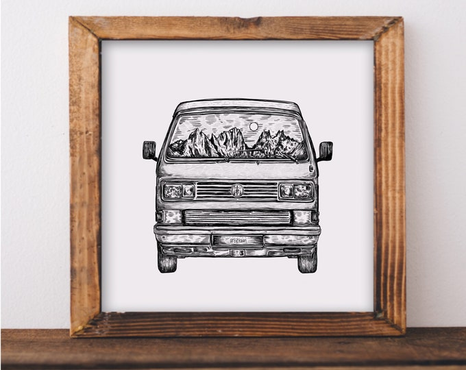 Van (Front view) Art Print