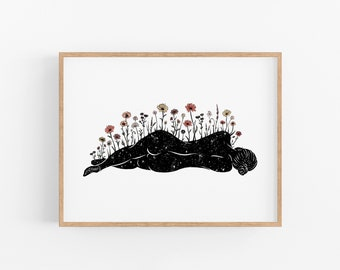She Grows Art Print