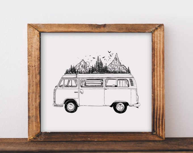 Mountainous Van Fine Art Print