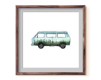 Van in Color Fine Art Print