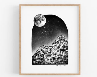Window to the Moon Art Print