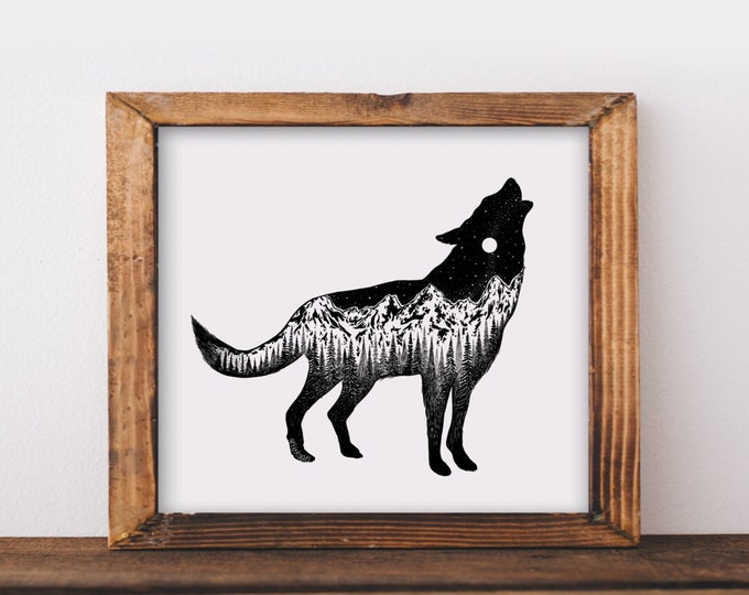 Mountainous Wolf Fine Art Print