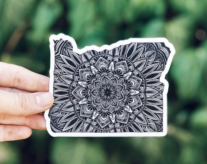 Oregon Mandala Vinyl Sticker