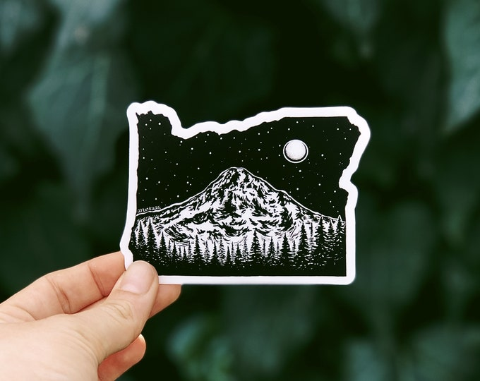 Oregon + Mt. Hood Vinyl Sticker