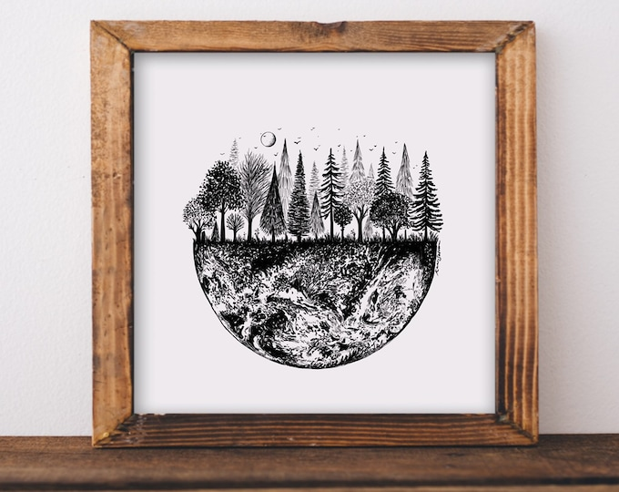 Earth Treescape Art Print