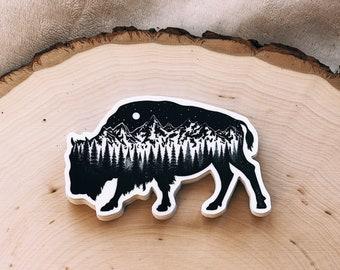 Mountain Buffalo Vinyl Sticker