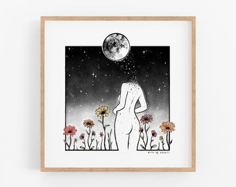 Celestial Growth Art Print