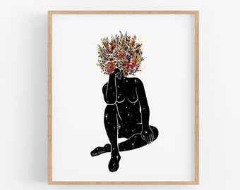 Bouquet Pose II Art Print