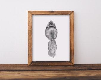 Forested Hair IV Fine Art Print