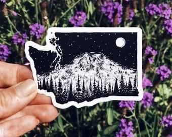 Washington + Mt. Rainier Vinyl Sticker