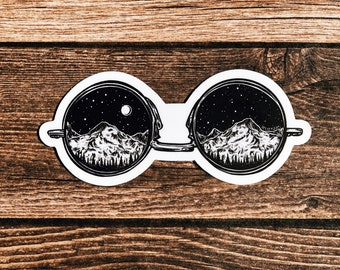 Mountainous Sunglasses Vinyl Sticker