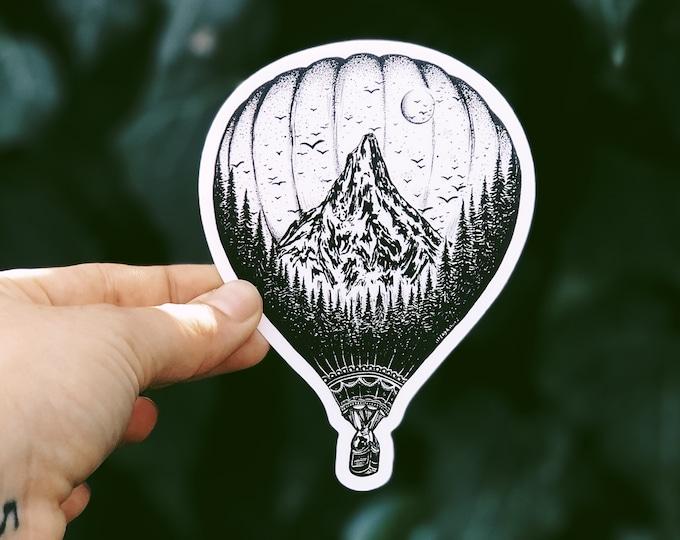 Hot Air Balloon Vinyl Sticker