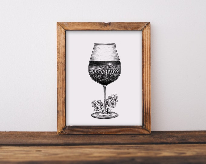 Wine Country Glass Fine Art Print