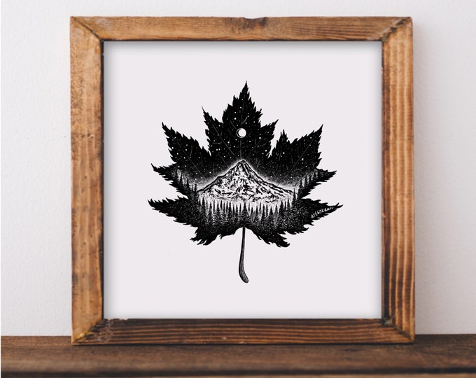 Mountain Leaf Art Print