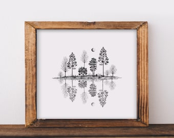 Tree Reflections Art Print