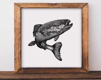 Jumping Salmon Fine Art Print